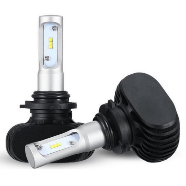 Две лампы светодиодные в фары S1 H7 по 25 w