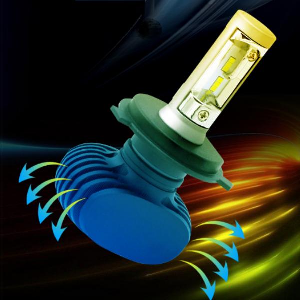 Две лампы светодиодные в фары S1 H8/H11 по 25 w