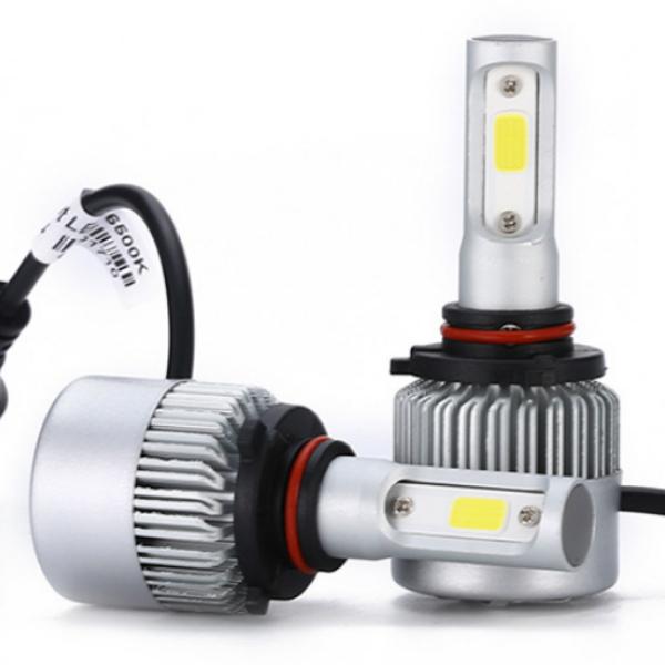 Две светодиодные лампы в фары C6 h27 по 18 w