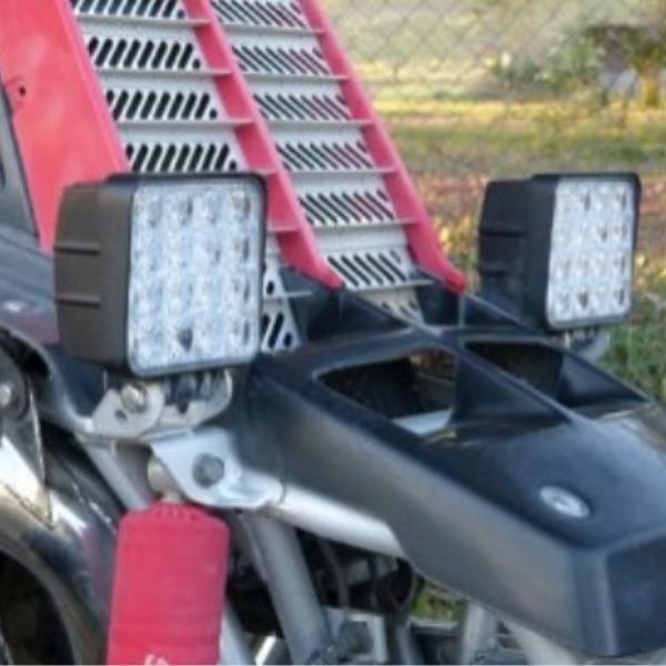 Фара светодиодная Epistar 48 w дальняя радиатор 35 мм