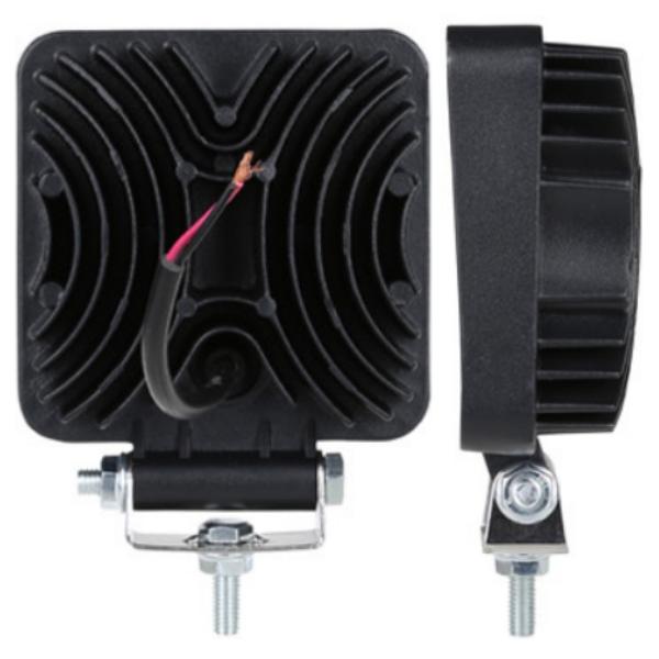 Фара светодиодная Epistar 27 w дальняя радиатор 35 мм