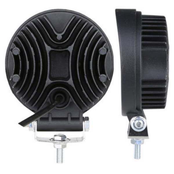 Фара светодиодная Epistar 27 w дальняя радиатор 55 мм