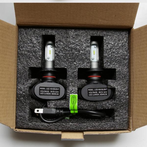 Две лампы светодиодные в фары S1 9005/HB3 по 25 w