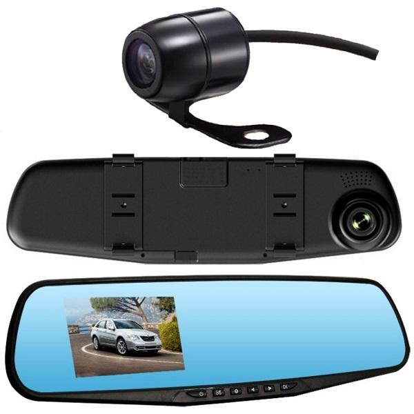 Видеорегистратор в зеркале c двумя камерами
